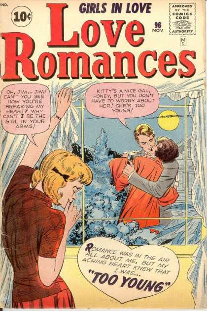 Love Romances 96 - Kissing - Couple - Moon - Girl - 96