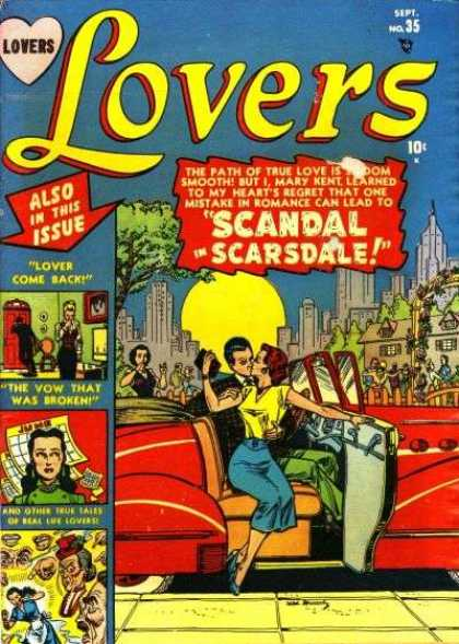 Lovers 35 - Scandal In Scarsdale - Lover Come Back - The Vow That Was Broken - One Mistake In Romance - Also In This Issue