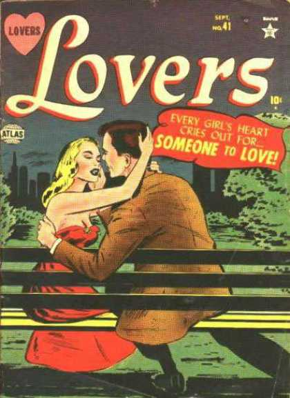 Lovers 41 - Heart - Atlas - Woman - Man - Bench