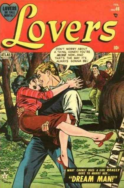 Lovers 46 - Atlas - Trees - Dream Man - Guy Holds Girl In His Arms - Woods
