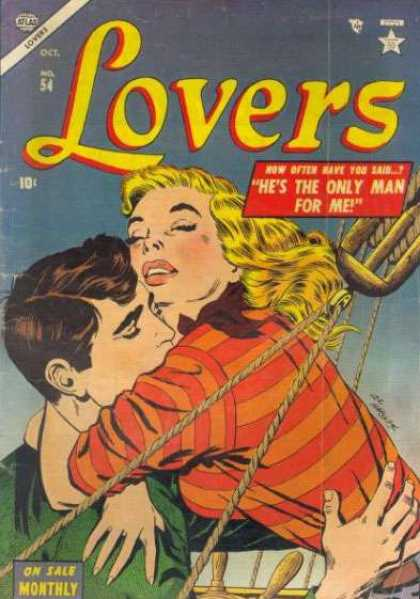 Lovers 54 - Lovers - Hes The Only Man For Mee - Ship - Love - 10c