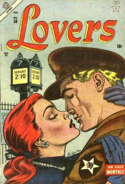 Lovers 58 - February - 10 Cents - Redhead - Blonde - Depart