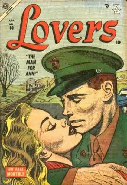Lovers 60 - Love - Kiss - Soldier - Train - Tree