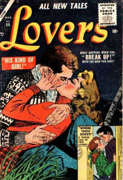 Lovers 66 - All New Tales - Comics Code - Break Up - His Kind Of Girl - Woman