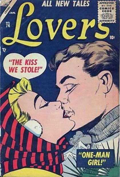 Lovers 74 - Kiss - All New Tales - One-man Girl - Scarf - Kissing