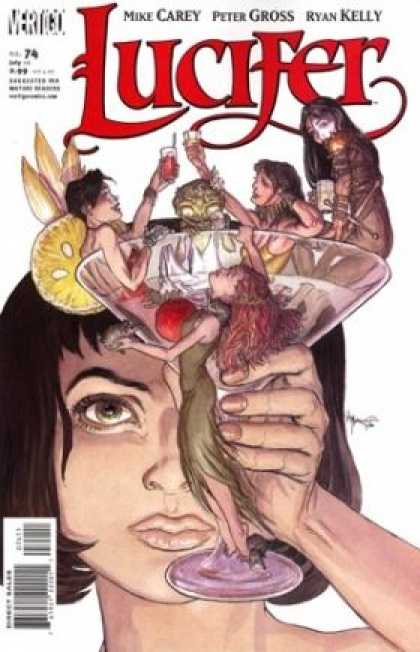 Lucifer 74 - Drinking - Mike Carey - Aliens - Martini - Peter Gross - Michael Kaluta