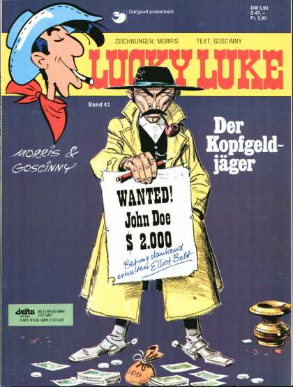 Lucky Luke 29 - Cigarette - Cowboy Hat - Wanted Poster - Pipe - Spurs
