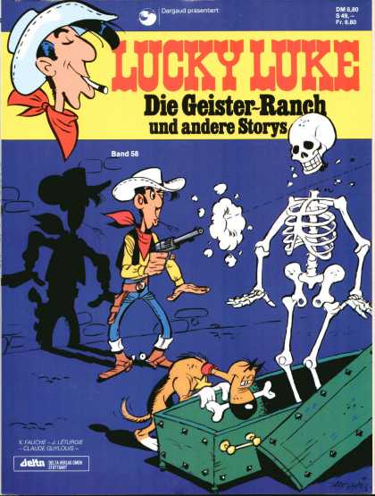 Lucky Luke 44 - Fastes Gun In The West - Faster Than His Shadow - Shooting At Skelettons - Digging For A Bone - Rantanplan