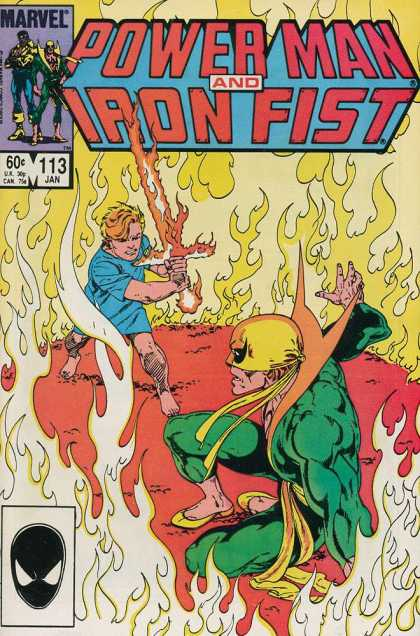 Luke Cage: Power Man 113 - Iron Fist - Fire - Flames - Sword - Fight
