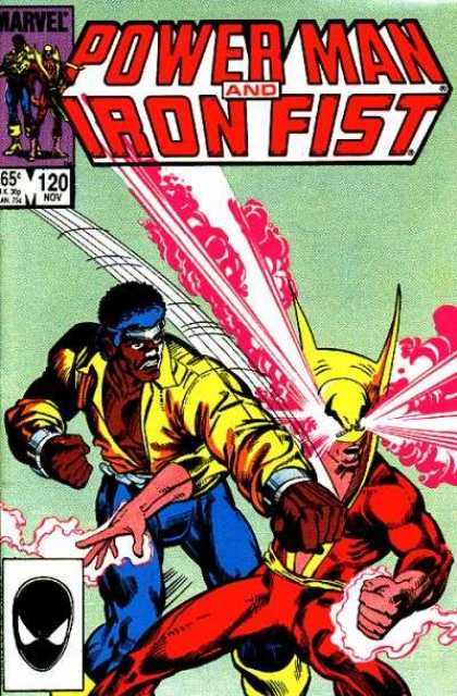 Luke Cage: Power Man 120 - Power Man - Pink Smoke - Punch - Eye Rays - Yellow Jacket