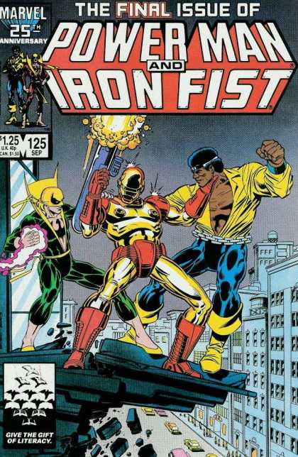 Luke Cage: Power Man 125 - Final Issue - Fist - Rocket - Marvel - Building