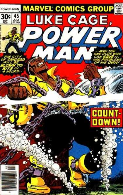 Luke Cage: Power Man 45 - Chicago - 45 July - Chains - Count-down - Underwater