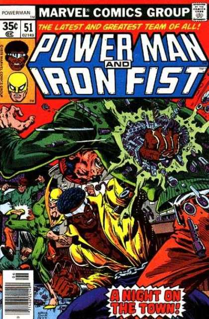Luke Cage: Power Man 51 - Comics Code - Marvel - Iron Fist - The Latest And Greatest Team Of All - A Night In The Town