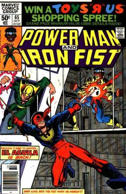 Luke Cage: Power Man 65 - Approved By The Comics Code Authority - Marvel Comics Group - 65 Oct - Iron Fist - Shopping Spree