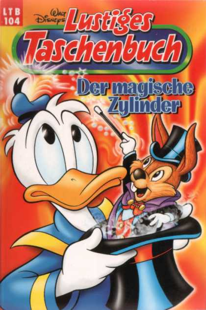 Lustiges Taschenbuch Neuauflage 104 - Donald Duck - Magic Wand - Magician - Top Hat - Walt Disney