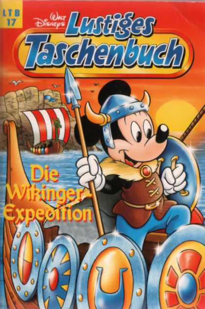 Lustiges Taschenbuch Neuauflage 17 - Mickey Mouse - Disney - Viking Ship - Shields - Spear