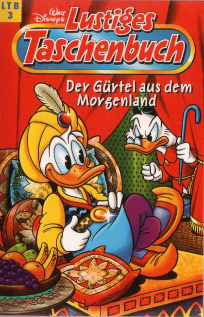 Lustiges Taschenbuch Neuauflage 3 - Scrooge Mcduck - Donald Duck - Yellow Turban - Red Curtain - Morgenland