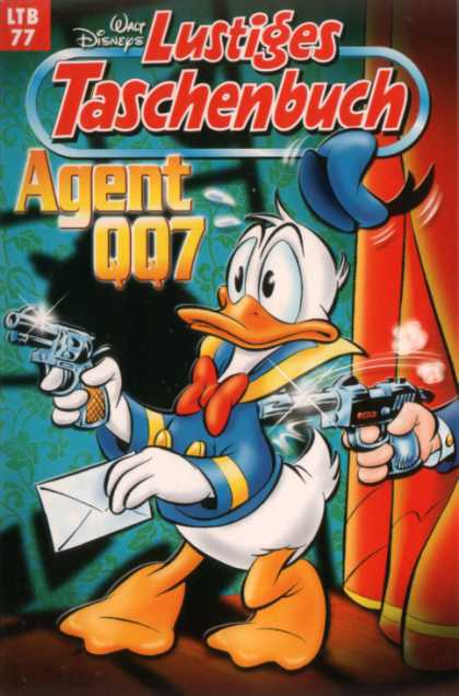 Lustiges Taschenbuch Neuauflage 77 - Agent 007 - Guns - Donald Duck - Envelope - Surprised