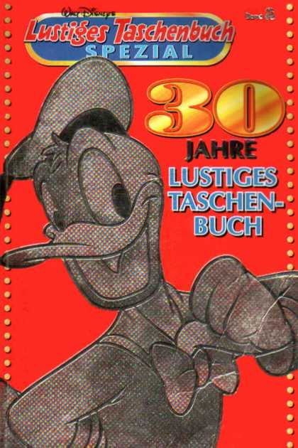Lustiges Taschenbuch Spezial 2 - Walt Disneys - Donald Duck - 30 Jahre - Red Background - Hat