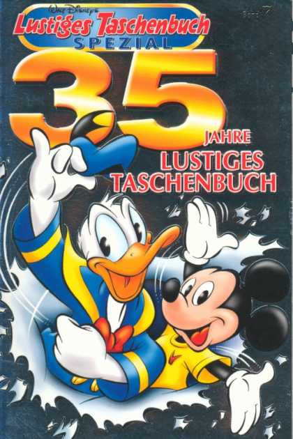 Lustiges Taschenbuch Spezial 7 - Donald Duck - Mickey Mouse - Special - Gold Letters - Torn Paper