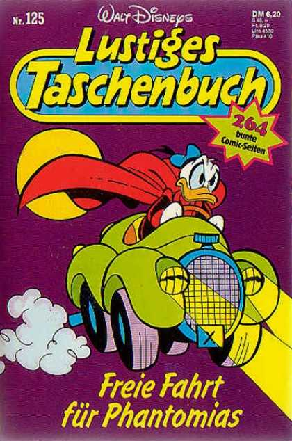 Lustiges Taschenbuch 127 - Duck - Car - Red Cape - Headlights - Full Moon