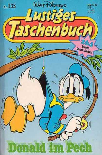 Lustiges Taschenbuch 137 - Walt Disney - Donald Duck - Tree Branch - Sky - Fishing Rod