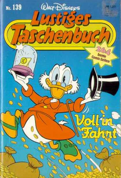Lustiges Taschenbuch 141 - Scrooge Mcduck - German - Tophat - Money Bags - Cane And Spectacles