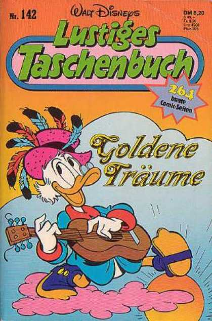 Lustiges Taschenbuch 144 - Duck - Guitar - Pink Pimp Hat - Feathers - Golden Traume