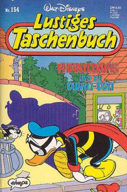 Lustiges Taschenbuch 156 - Phantom - Shadow - Donald Duck - Garbage Can - Slumped