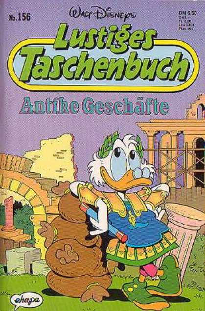 Lustiges Taschenbuch 158 - Sculpture - Ground - Grass - Eyes - Beak