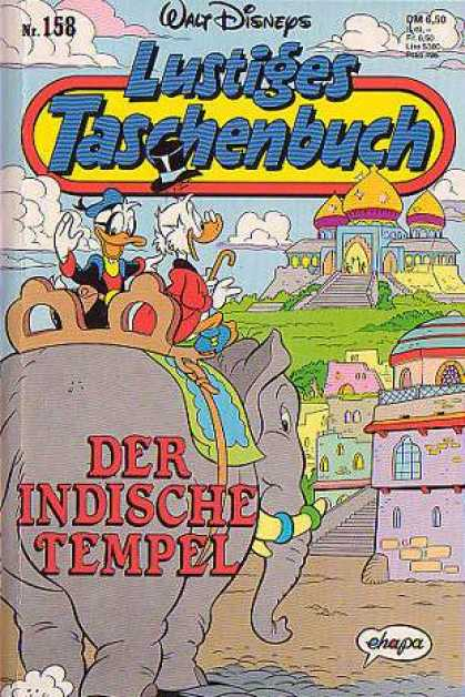 Lustiges Taschenbuch 160 - Donald Duck - Scrooge - Riding An Elephant - Taj Mahal - India