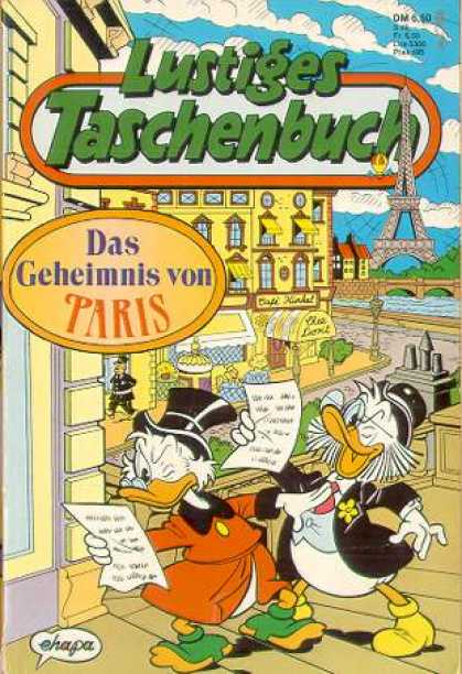 Lustiges Taschenbuch 161 - Paris - French - Scrooge Mcduck - Eiffel Tower - Notes
