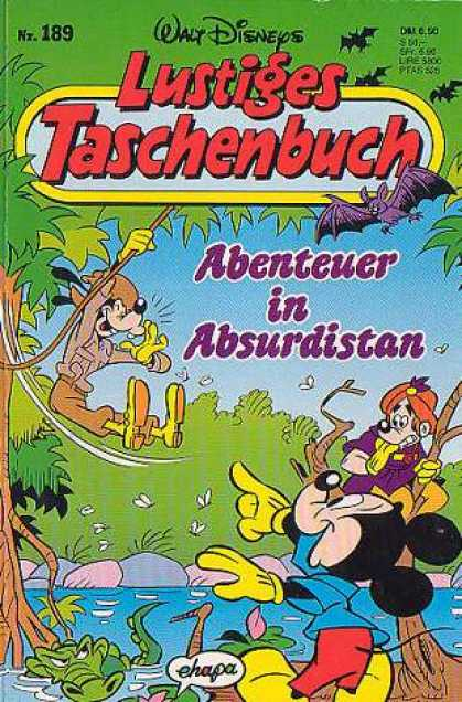 Lustiges Taschenbuch 191 - Walt Disneys - Abenteuer In Absurdistan - Tree Hero - Bats Head - Flying Hero