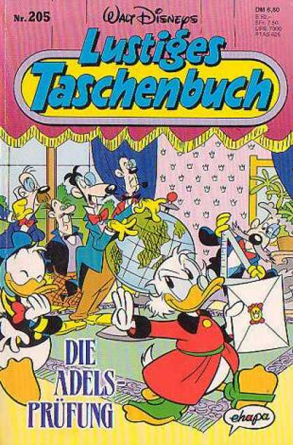 Lustiges Taschenbuch 207 - Ducks - World Globe - Room In House - Curtains And Drapery - Envelope