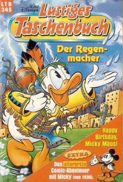 Lustiges Taschenbuch 247 - Indian - Donald Duck - Donald Goes On Vacation - Donald Visits The Aztecs - Donald Is An Indian