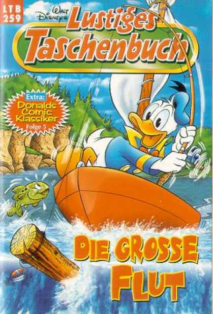 Lustiges Taschenbuch 261 - Walt Disneys - Donald Duck - Fishing Pole - Boat - Fish