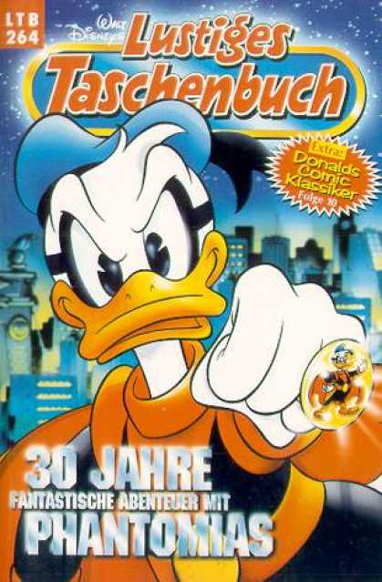 Lustiges Taschenbuch 266 - Donald Duck - Magic Ring - Mask - City - Orange And Black Costume