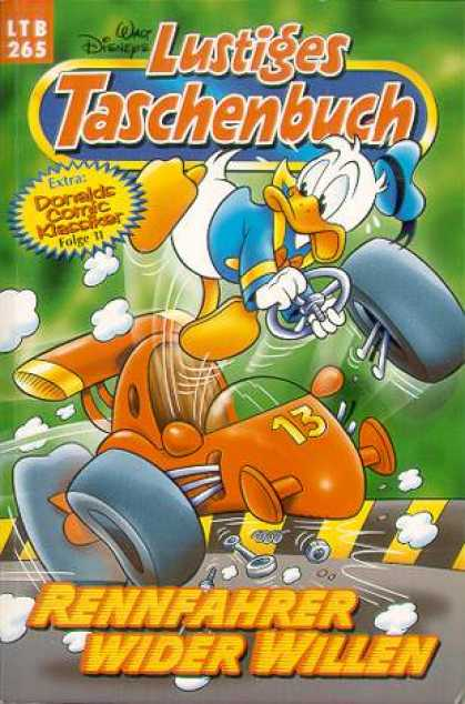 Lustiges Taschenbuch 267 - Walt Disney - German Translation - Donald Duck - Issue 265 - Racecar