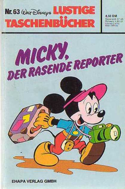 Lustiges Taschenbuch 63 - Mickey Mouse - Walt Disney - Camera - Suitcase - Visor