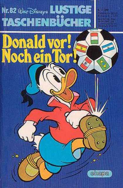 Lustiges Taschenbuch 82 - Walt Disney - Duck - Football - Ball - Flags