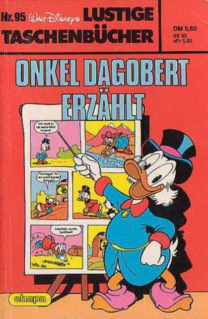 Lustiges Taschenbuch 95 - Duck - Easel - Tophat - Glasses - Comic Strip