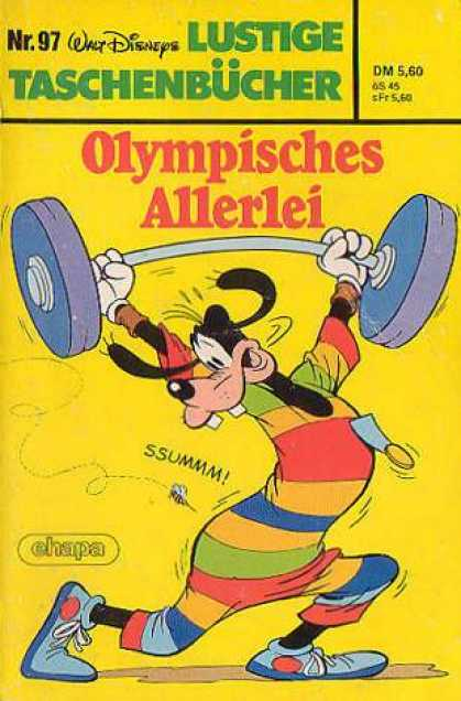 Lustiges Taschenbuch 97 - German Language - Goofy - Weightlifting - Olympics - Olympisches Allerlei
