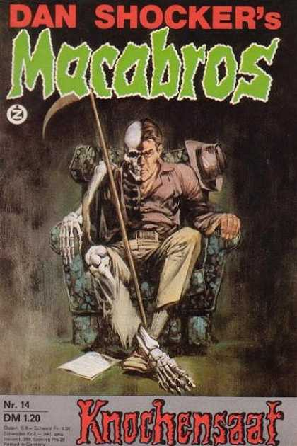 Macabros - Knochensaat - Dan Shocker - Arm Chair - Half Human - Half Skeleton - Knochensaat