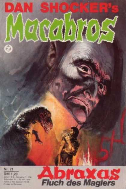 Macabros - Abraxas Fluch des Magiers - Dan Shocker - Lizard - Monster - Abraxas - Fire