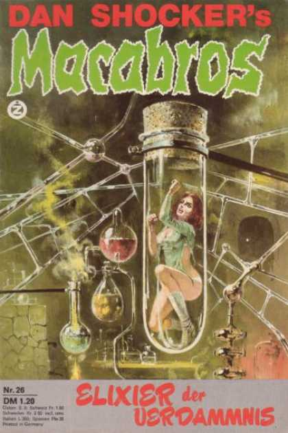 Macabros - Elixier der Verdammnis - Dan Shocker - German - Science Fiction - Vintage - Women