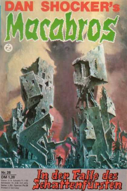 Macabros - In der Falle des Schattenfürsten - Dan Shocker - Rubble - Smoke - Clouds - Building