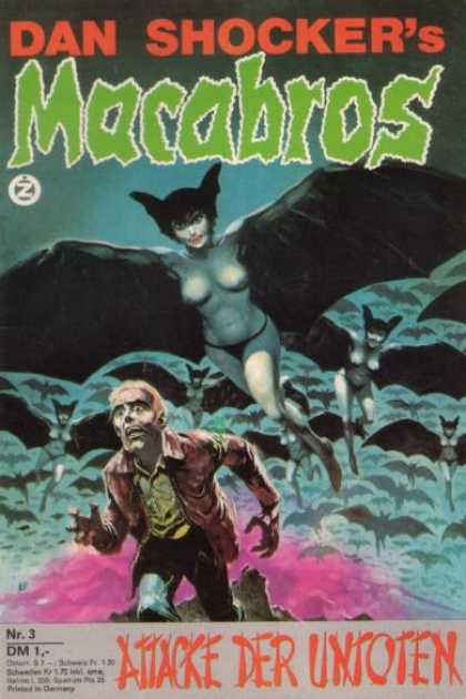 Macabros - Attacke der Untoten - Vampires - Bat Wings - Fangs - Man Running