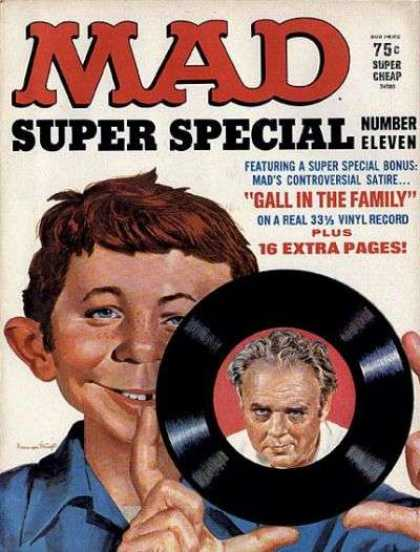 Mad Special 11 - Alfred Enewman - Flexidisc Record - Archie Bunker - Gall In The Family - Super Special