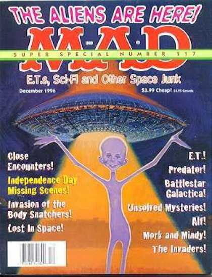 Mad Special 117 - The Aliens Are Here - Close Encounters - Independence Day - Predator - The Invaders