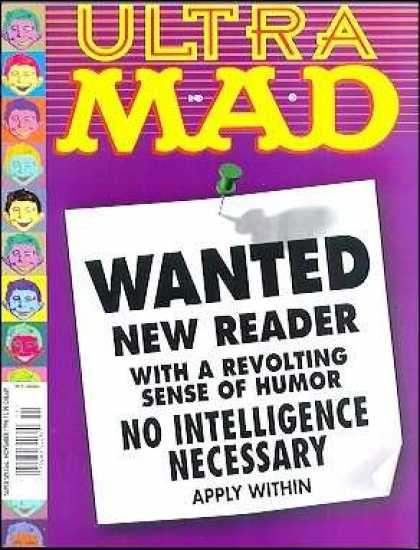 Mad Special 132 - Ultra - Maxx - Wanted New Reader - No Intelligence Necessary - Apply Within
